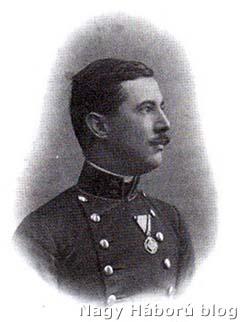 Damó Elemér főhadnagyként a háború kitörése idején