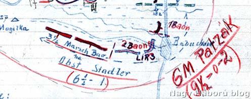 A debreceni 3. honvéd gyalogezred által védett állások