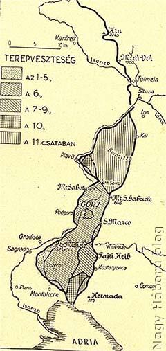 Isonzó csaták 1-11.