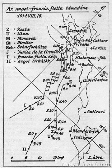 Az angol-francia flotta támadása 1914. augusztus 16-án