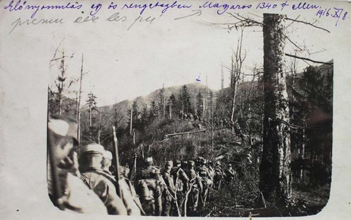 1916 őszén készült fotó a területről