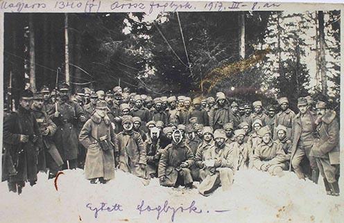A Magyaros visszafogalásakor ejtett orosz foglyok a roham napján