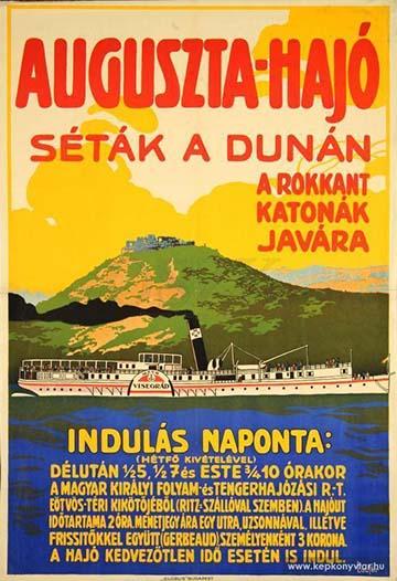 Laufer: Auguszta-hajó. Séták a Dunán. A rokkant katonák javára (1916)