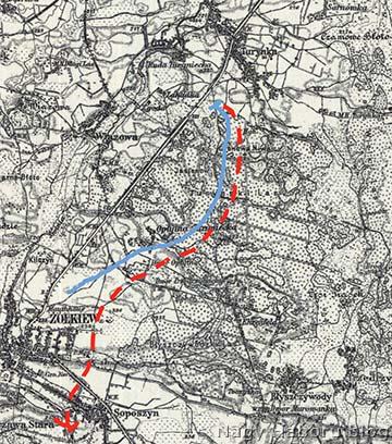 Az 1914. szeptember 2-ai felderítés.