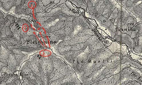 Az 1917. augusztus 11-i harc színhelye