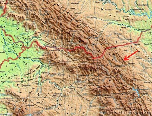 Baló Benjámin halálának helye mai térképen