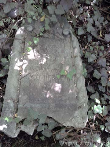 Baló Benjámin főhadnagy sírköve a Fiumei úti temető 40-es parcellájában