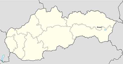 Őrmező Szlovákia térképén