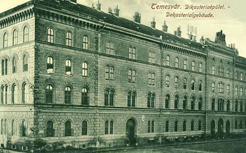 A Dikasztérium épülete Temesváron, 1912