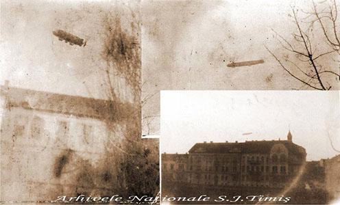 Zeppelin Temesvár felett