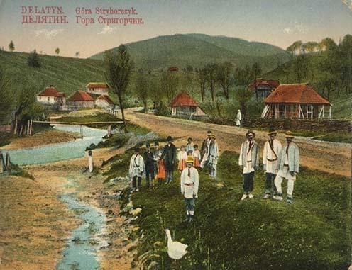 Delatin környéki táj és lakosság korabeli képeslapon