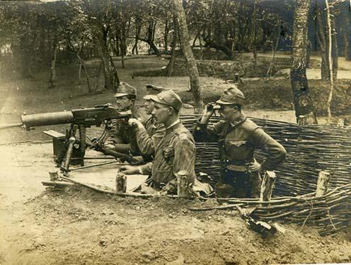 Géppuskások valahol az orosz fronton