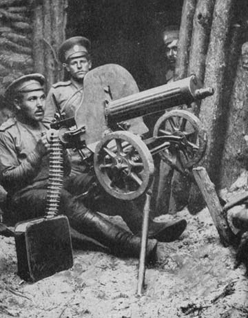 Orosz géppuskások Galíciában