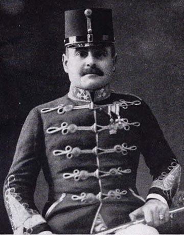 Fráter Jenő huszár ezredes portréja