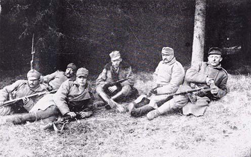 Honvédhuszár tábori őrs 1916 őszén