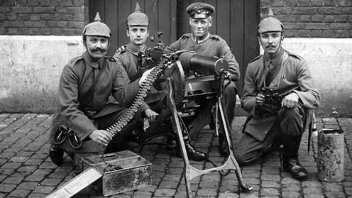 Német géppuskások