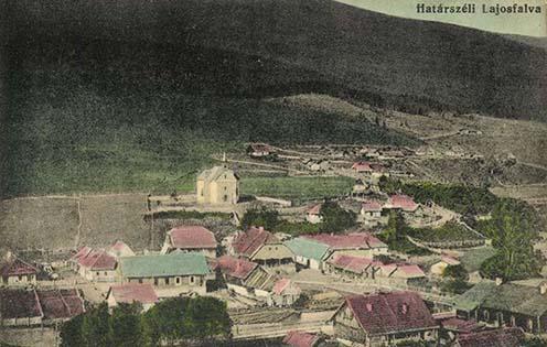 Lajosfalva-Kirlibaba környéke korabeli képeslapon