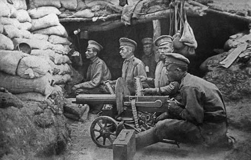 Orosz géppuskások egy támaszponton
