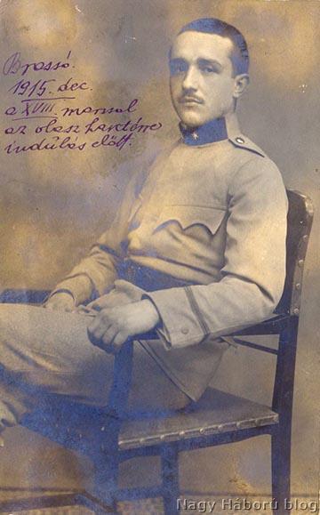 Kókay László, mint egyéves önkéntes őrvezető 1915 decemberében