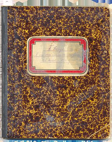 A most közreadásra kerülő naplókötet borítója