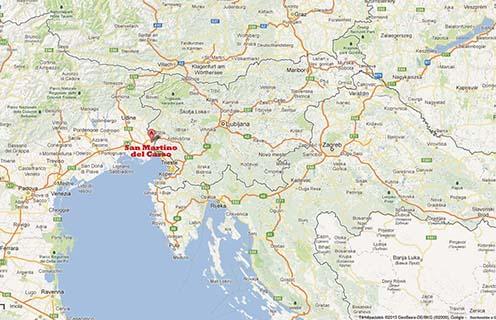 San Martino del Carso Google térképen