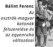 Az osztrák–magyar katonák felszerelése és az egyenruha változásai az I. világháborúban