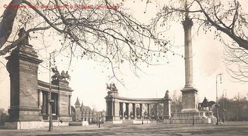 A leendő Hősök tere a Hősök Emlékköve nélkül 1927-ben