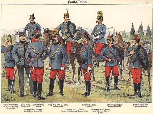 A K.u.K. lovasság 1898-ban