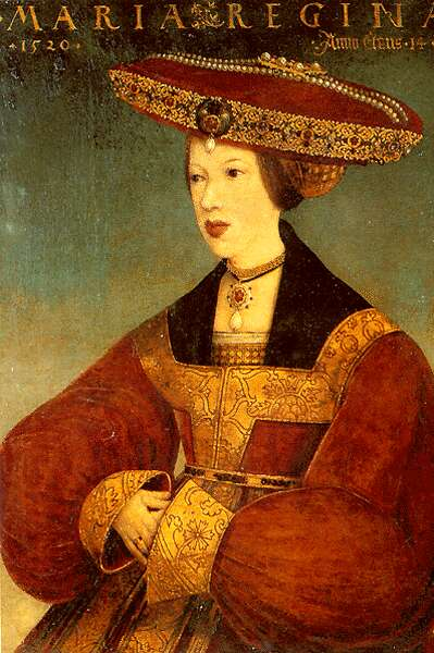 Habsburg Mária fiatalkori ábrázolása