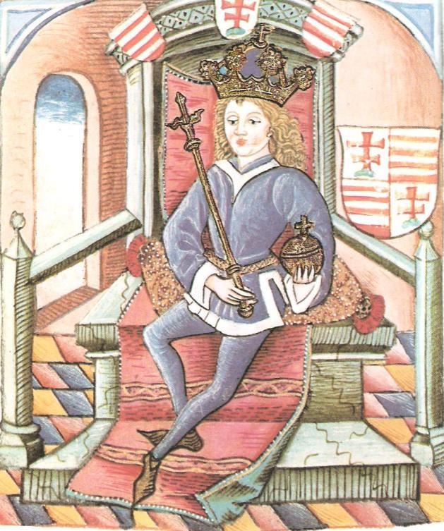 Nagy Lajost ábrázolása a Thuróczy-krónikában