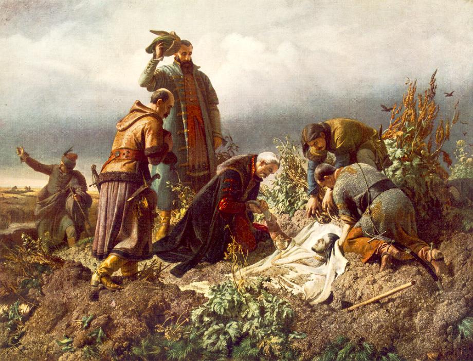 Székely Bertalan: II. Lajos testének megtalálása