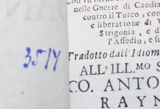 Birken kötetének címlapja és a Téka leltárszáma