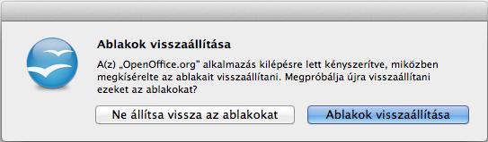 OpenOffice: Ablakok visszaállítása [Mac OSX]