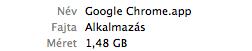 OSX: Túl nagy a Google Chrome.app csökkentsük a méretét!