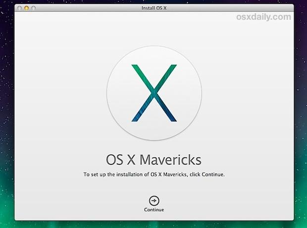 Apple OS X Mavericks telepítése USB pendrive-ról!