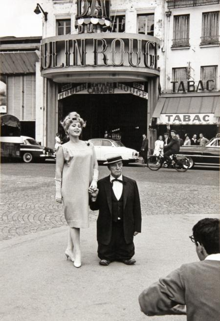 ZSAZSA GABOR AND BUSTER KEATON AT THE MOULIN ROUGE, PARIS, 1959<br />WOLF, HENRY