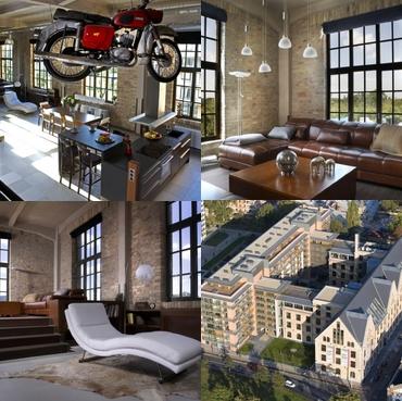 Loft lakások – Hatalmas belső terek luxus kivitelben