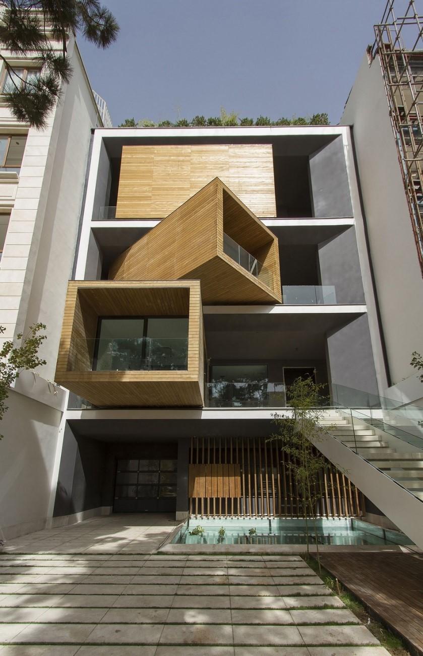 Egy forgatható kockákból álló ház
