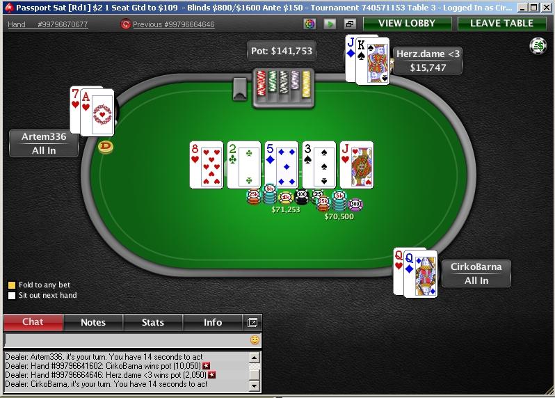 WSOP Satellite Pokerstars