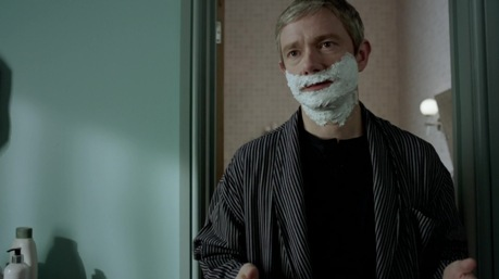 'I don't shave for Sherlock Holmes.'