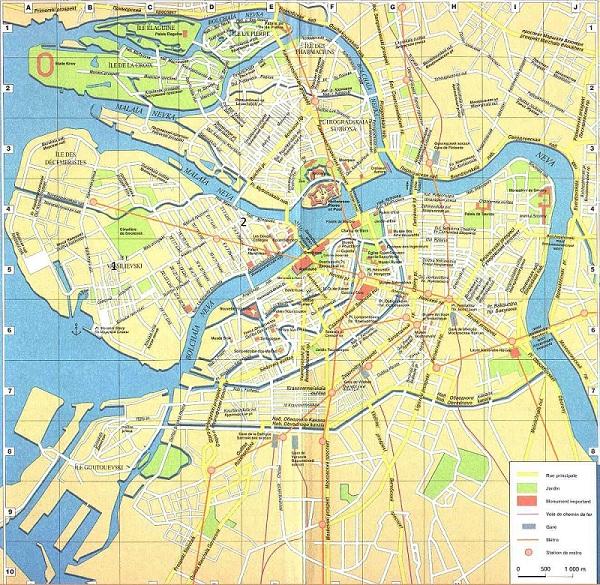 Карта метро Санкт - Петербурга