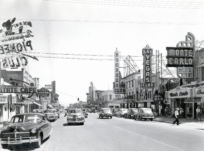 1953. Las Vegas az első kaszinók után circa 20 évvel..jpg