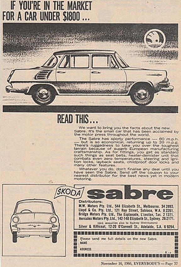 1966. Ausztrál Skoda 100 hirdetés2.jpg