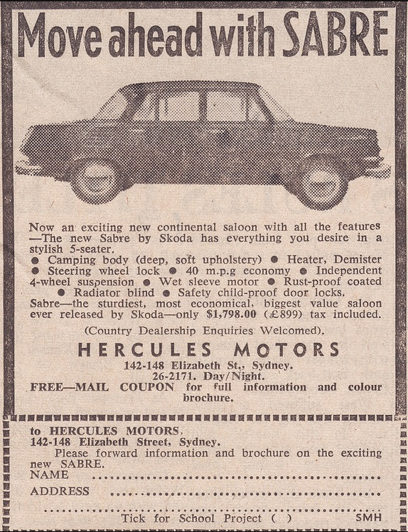1967. Ausztrál Skoda 100 hirdetés..jpg