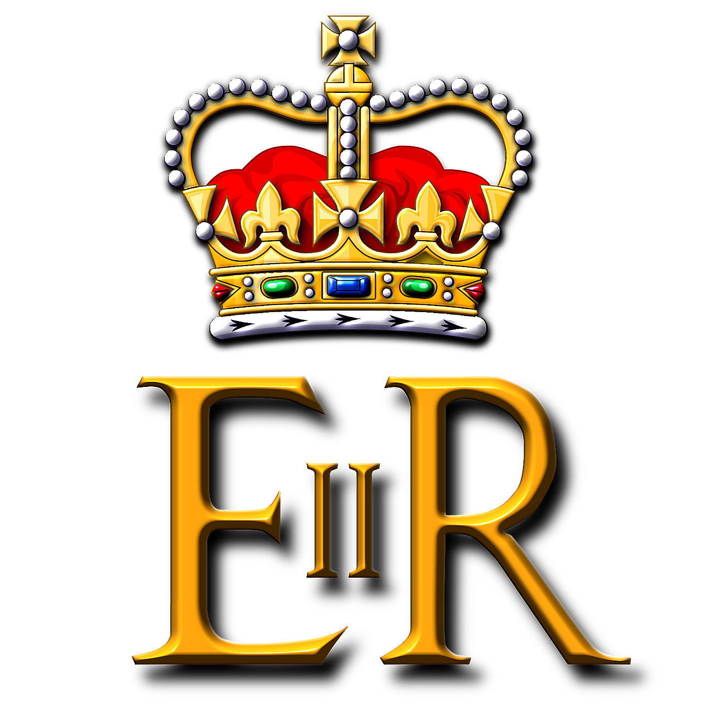 Royal Cypher - Queen Elizabeth II - Art of Heraldry - Peter Crawford.png