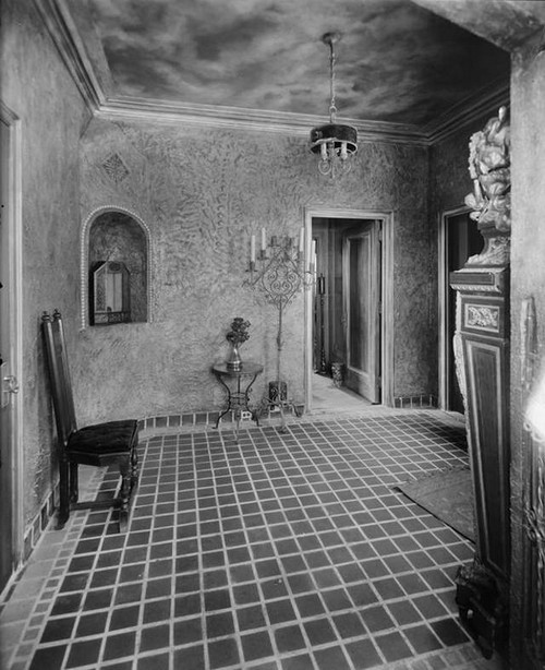 1927. 37-41 West 86th Street. Hotel Hortense, Margolies Apartment, on roof. Entrance lobby to apartment. 8-17-1927.jpg