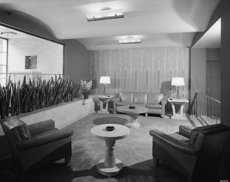 1941. 25 West 54th Street. Lobby, The Regent House apartments. 8-1-1941.jpg
