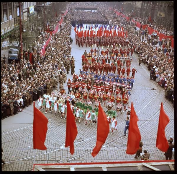 May Day Parade in Prague, Czech Republic in 1956 (1).jpg