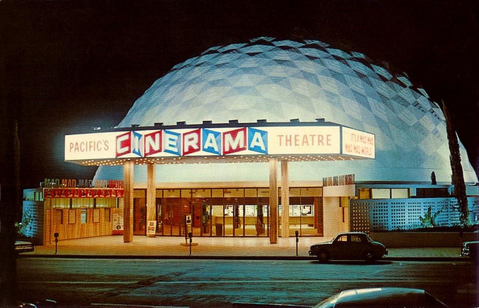 Vintage Movie Theatres and Cinemas (2) Pacific's Cinerama Theatre, LA CA, 1963.jpg