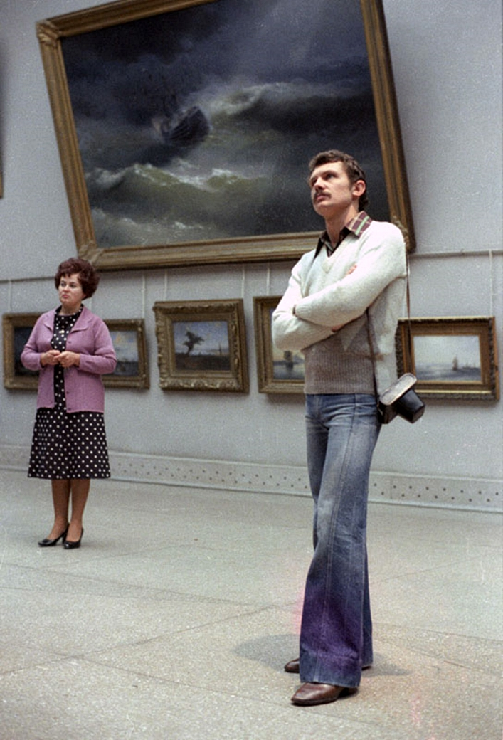 1979. Farkas Bertalan egy moszkvai múzeumban..jpg